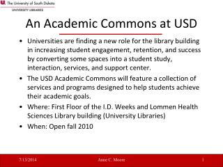 An Academic Commons at USD