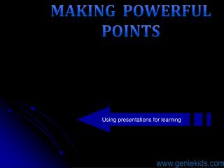 Using presentations for learning