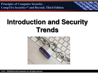 Introduction and Security Trends