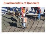 Fundamentals of Concrete
