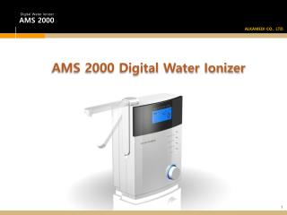AMS 2000 Digital Water Ionizer