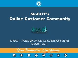 MnDOT's  Online Customer Community