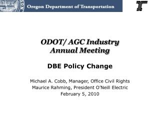 ODOT/ AGC Industry Annual Meeting