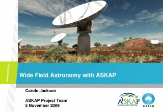 Wide Field Astronomy with ASKAP