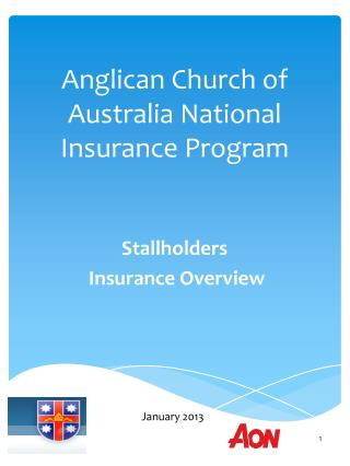 Anglican Church of Australia National Insurance Program