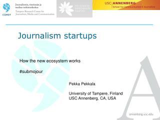 Journalism startups