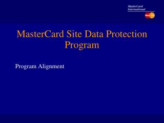 MasterCard Site Data Protection Program