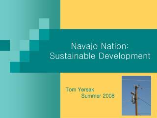 Navajo Nation: Sustainable Development
