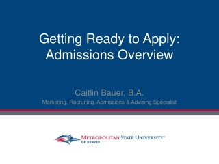 Supplemental Admissions Materials