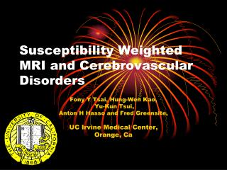 Susceptibility Weighted MRI and Cerebrovascular Disorders