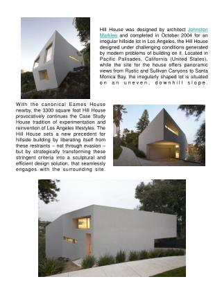 Hill House by Johnston Marklee in California January 30th, 2009 - Posted in  Home Design Ideas