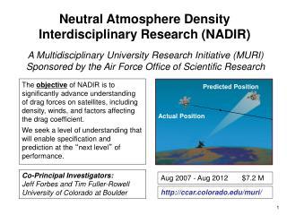 Neutral Atmosphere Density  Interdisciplinary Research (NADIR)