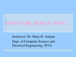 SOFTWARE DESIGN (SWD)