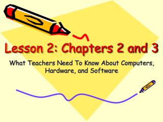 Lesson 2: Chapters 2 and 3