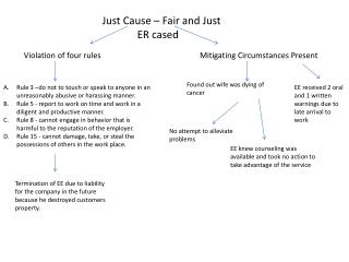 Just Cause – Fair and  Just ER cased