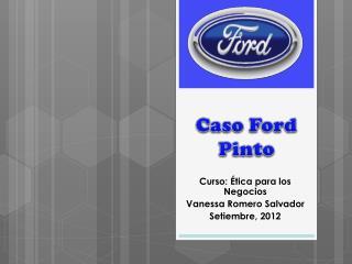 Caso Ford Pinto