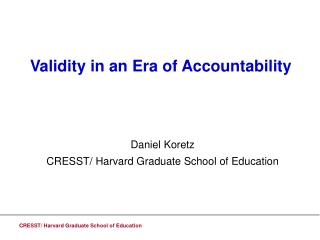Validity in an Era of Accountability