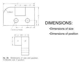 DIMENSIONS: Dimensions of size Dimensions of position