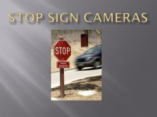 Stop Sign Cameras