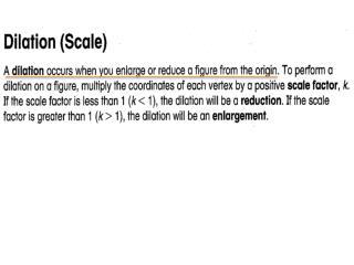 Dilation formula:    Original times scale factor = image