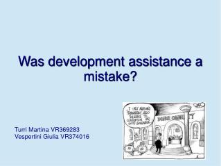 Was development assistance a mistake?