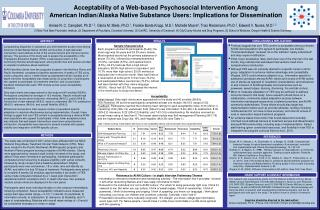 Acceptability of a Web-based Psychosocial Intervention Among American Indian/Alaska Native Substance Users: Implication