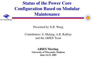 Status of the Power Core Configuration Based on Modular Maintenance
