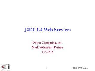 J2EE 1.4 Web Services
