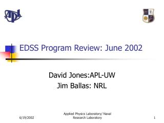EDSS Program Review: June 2002