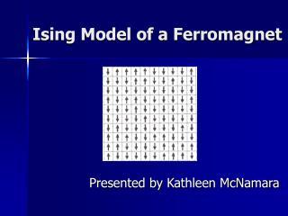 Ising Model of a Ferromagnet