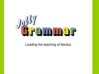 Leading the teaching of literacy