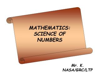 MATHEMATICS: SCIENCE OF NUMBERS