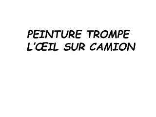 PEINTURE TROMPE L'ŒIL SUR CAMION