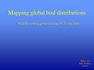 Mapping global bird distributions