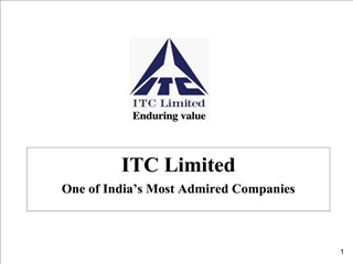 ITC Limited One of India s Most Admired Companies