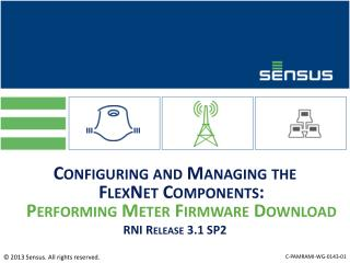 Configuring and Managing the  FlexNet Components:  Performing Meter Firmware Download RNI Release 3.1 SP2