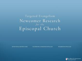 What we already know – The DNA of the Episcopal Church
