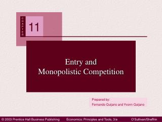 Entry and Monopolistic Competition