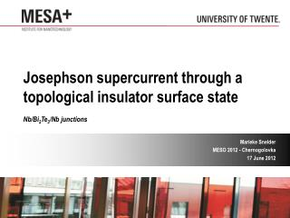 Josephson supercurrent through a topological insulator surface state Nb/Bi 2 Te 3 /Nb junctions