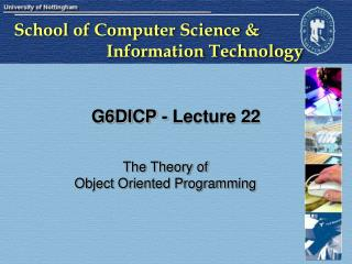G6DICP - Lecture 22