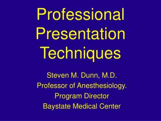 Professional Presentation Techniques