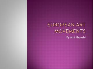 European Art Movements