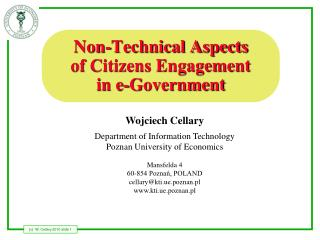 Non-Technical Aspects of Citizens Engagement in e-Government