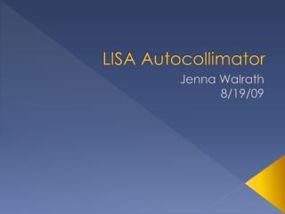 LISA Autocollimator