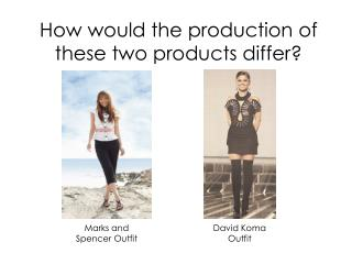 How would the production of these two products differ?
