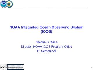 NOAA Integrated Ocean Observing System (IOOS)