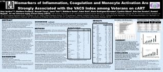 Biomarkers of Inflammation, Coagulation and Monocyte Activation Are  Strongly Associated with the VACS Index among Vete