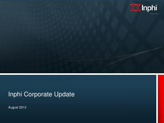 Inphi Corporate Update