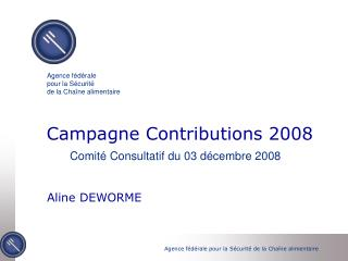 Campagne Contributions 2008