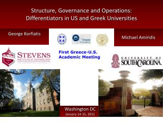Structure, Governance and Operations: Differentiators in US and Greek Universities